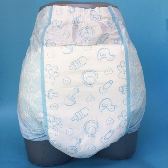 ABDL adult diaper with full printing