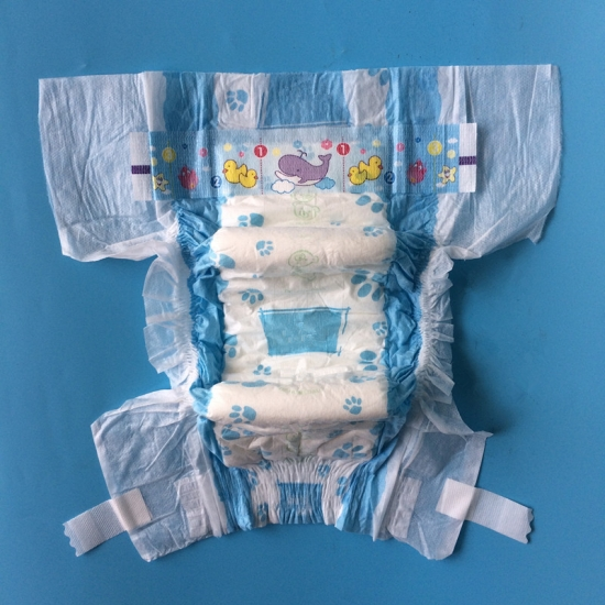 PE disposable baby diaper